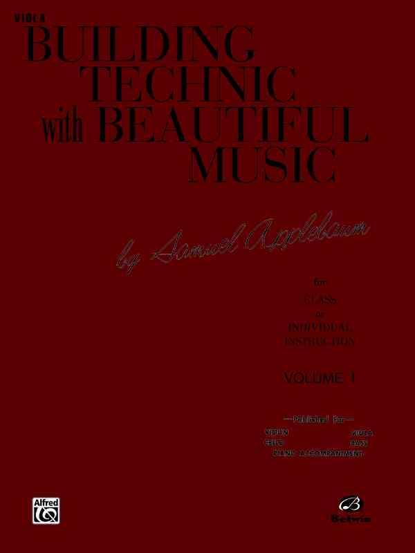 Building Technic With Beautiful Music, Book I (Viola) By Applebaum, Samuel
